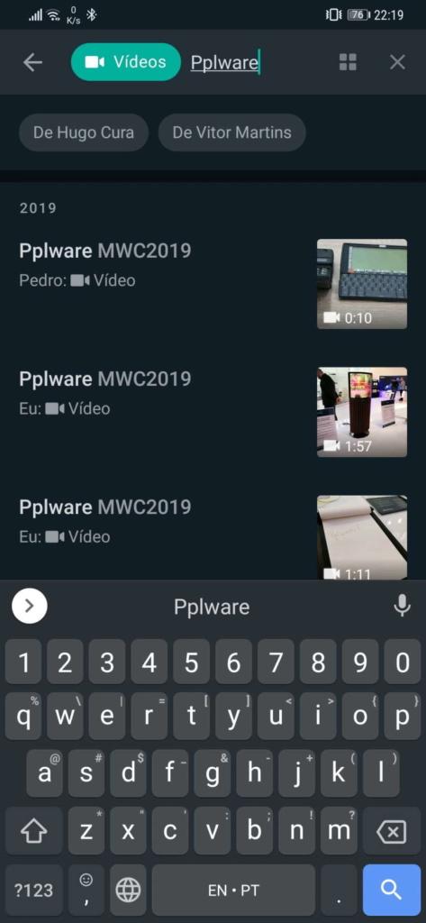 WhatsApp pesquisa imagem interface nova