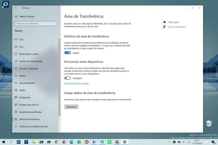Windows 10 Microsoft Swiftkey copiar e colar