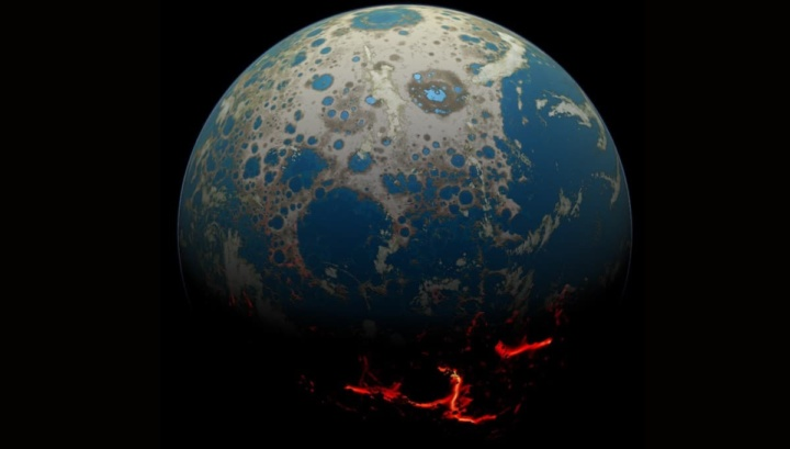 Imagem de uma quase Terra