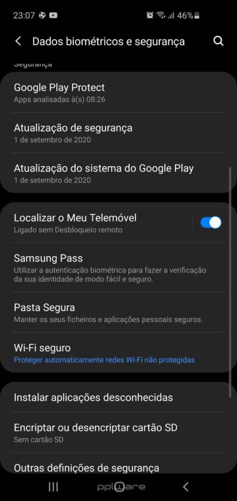 Samsung smartphones encontrar offline equipamentos