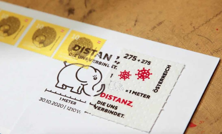 """Serviço de correios austríacos criam """"selo corona"""" impresso em papel higiénico"""