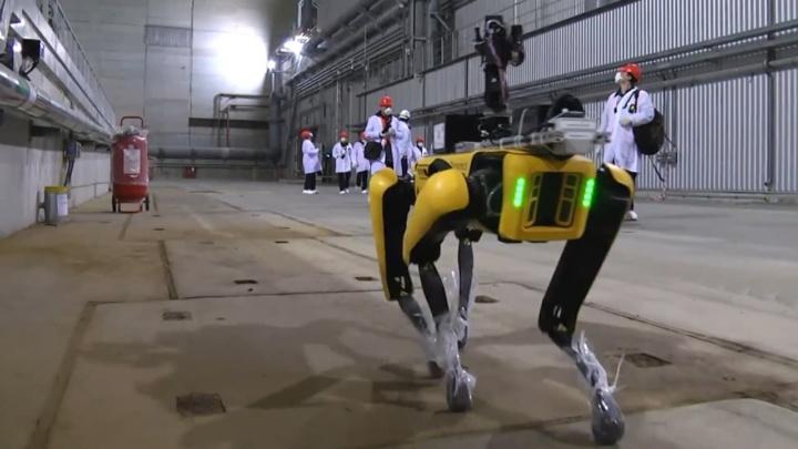 Imagem robô Spot na central nuclear de Chernobil
