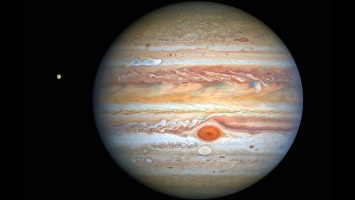 Imagem de Júpiter que influenciou Vénus