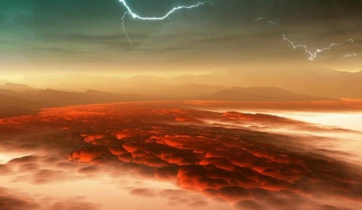 Ilustração da superfície de Vênus