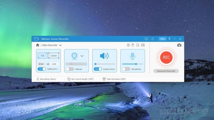 Vidmore Screen Recorder, é fácil gravar o ecrã do seu PC ou Mac
