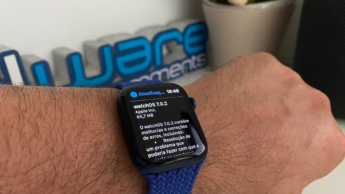 Imagem watchOS 7.0.2 no Apple Watch 6