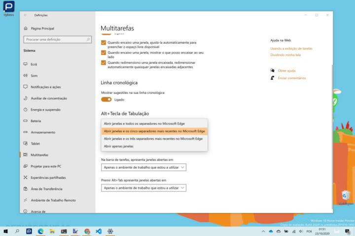 Edge Windows 10 Alt+Tab separadores Microsoft
