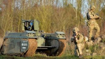 Imagem dos robôs do exército britânico