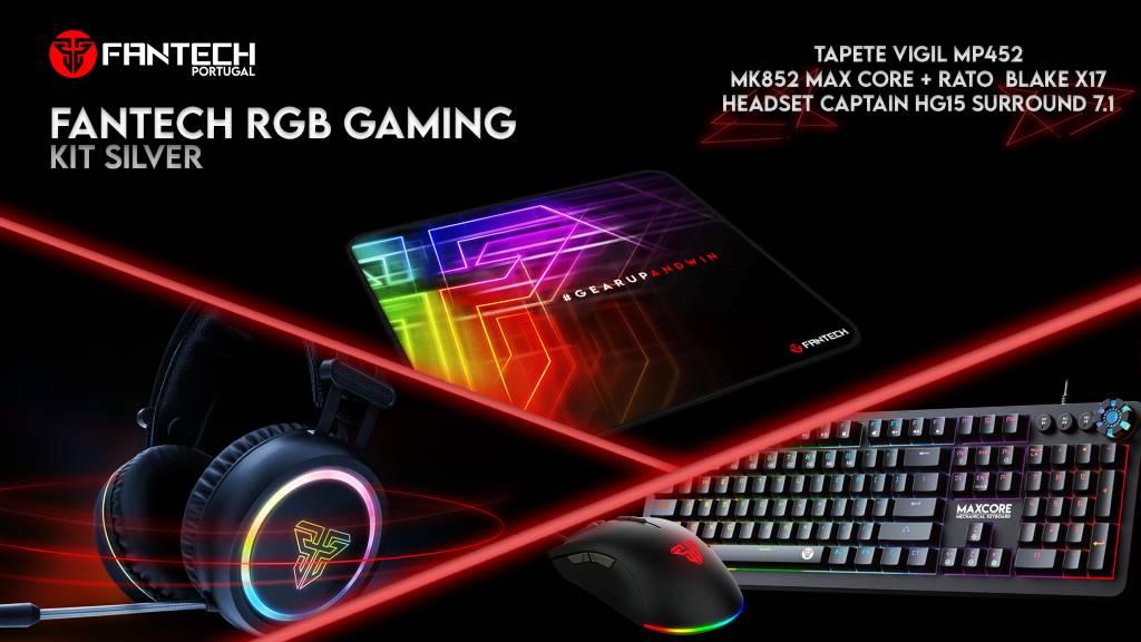 Fantech RGB Gaming Kit Silver - torne a experiência de jogo ainda mais imersiva