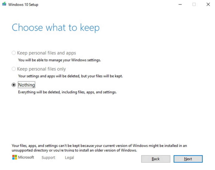 reinstalar Windows 10 Microsoft problema dados