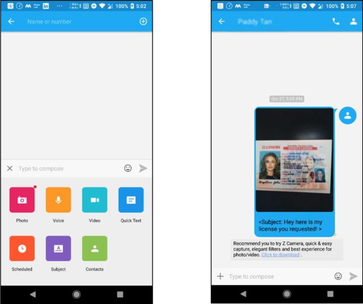 Android segurança privacidade GO SMS Pro app
