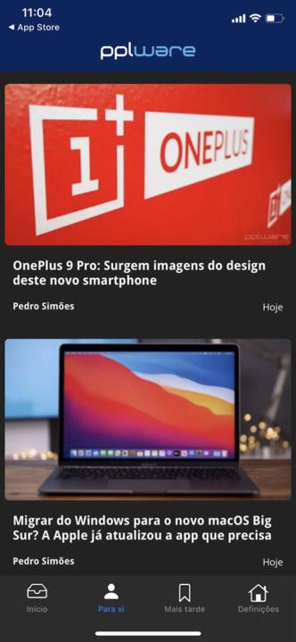 Imagem app Pplware para iOS no iPhone