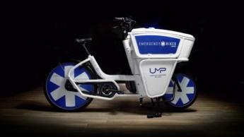 Imagem da bicicleta ambulância