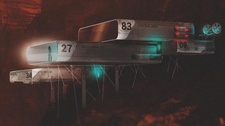 Imagem de conceito da bicicleta NASA que será usada como transporte em Marte