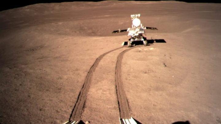 Imagem do rover chinês na Lua