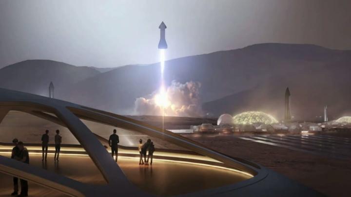 Projeção de Marte por Elon Musk