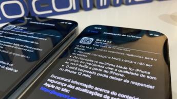 Imagem iphone 12 Pro Max com iOS 14.2.1