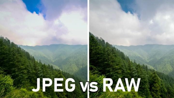 Imagem comparativa entre RAW e JPEG
