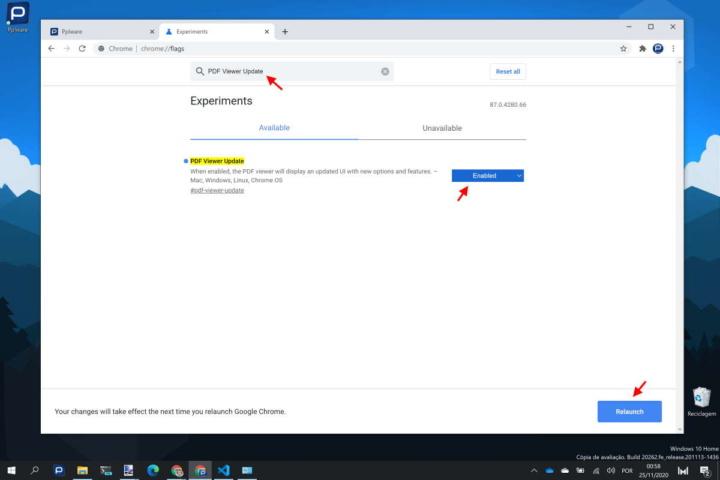 Chrome PDFs browser leitor novidades