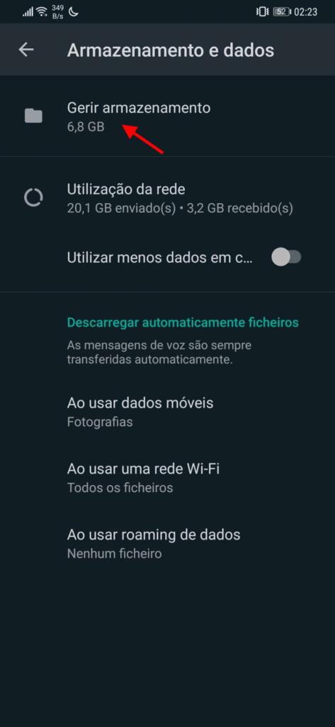 WhatsApp espaço interface libertar novidade