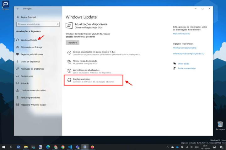 Windows 10 notificações atualizações alertas