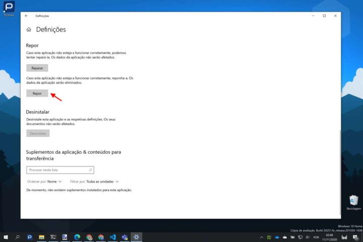 Windows 10 Definições problemas utilizadores área
