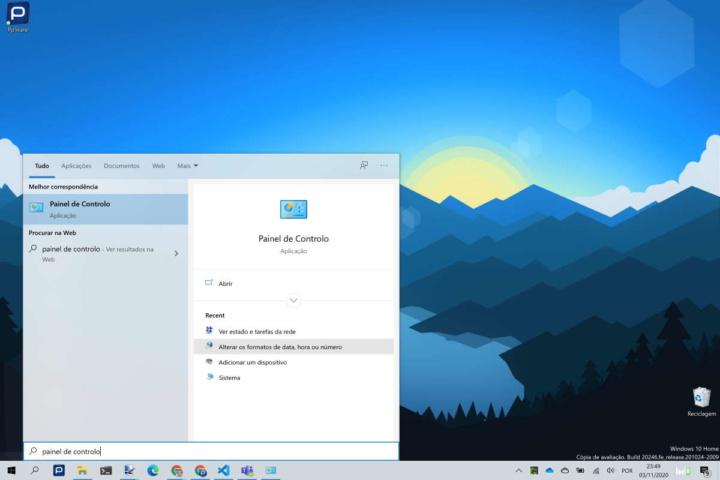 Microsoft Windows 10 Painel Controlo Definições