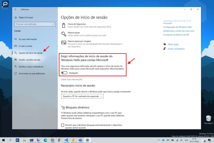 Windows 10 password Microsoft Hello segurança