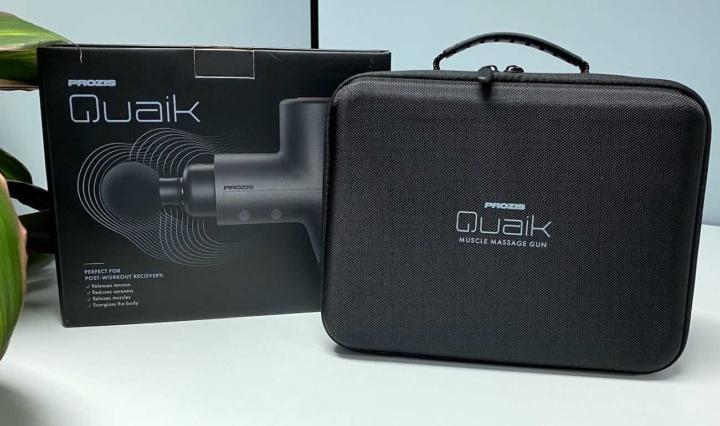 Quaik: A pistola de massagem muscular com 5 posições de intensidade
