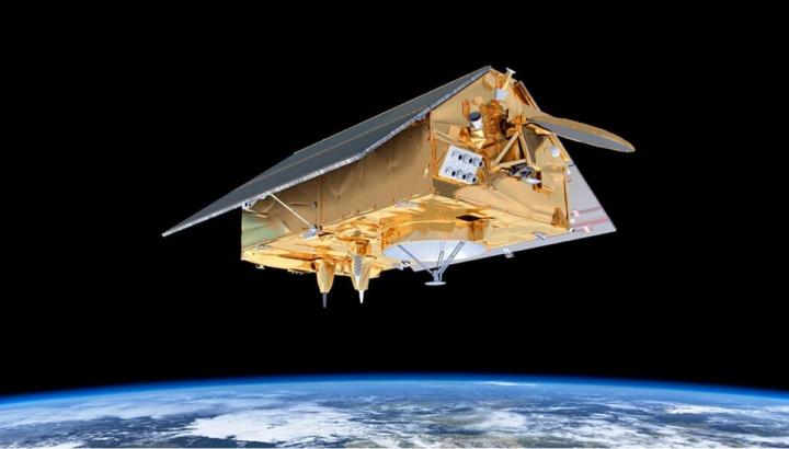Imagem do satélite levado pelo Falcon 9 para o espaço, o Copernicus Sentinel-6 Michael Freilich
