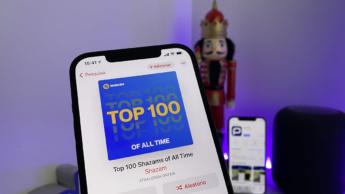 Imagem iphone 12 Pro Max com Shazam
