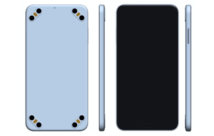 Previsível?! Empresa regista patente de smartphone com 8 câmaras, duas em cada canto
