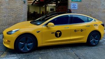 Imagem tesla Model 3 Táxi em Nova Iorque
