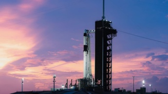 Imagem da Crew-1 da SpaceX que levará os astronautas até à Estação Espacial Internacional