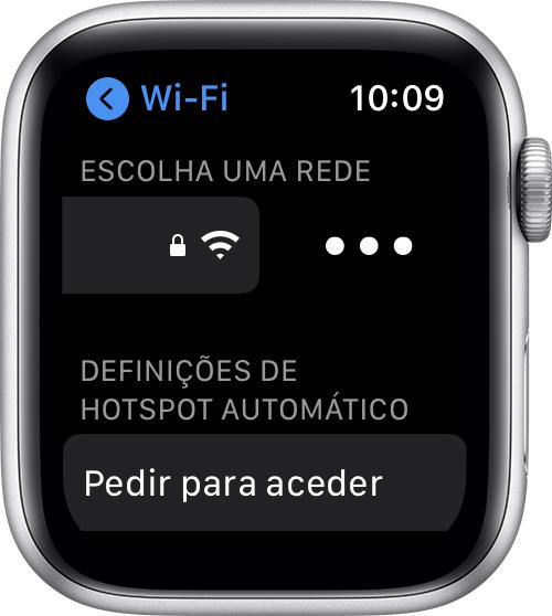 Imagem que mostra como ativar endereço WiFi privado no Apple Watch