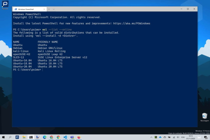 Windows 10 Linux Microsoft simple installation
