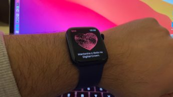 Imagem do Apple Watch 6 com ECG