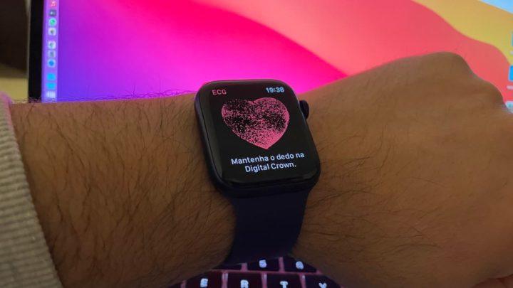 Imagem do Apple Watch 6 com ECG
