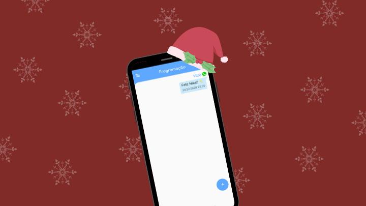 Agendar mensagens de Natal.
