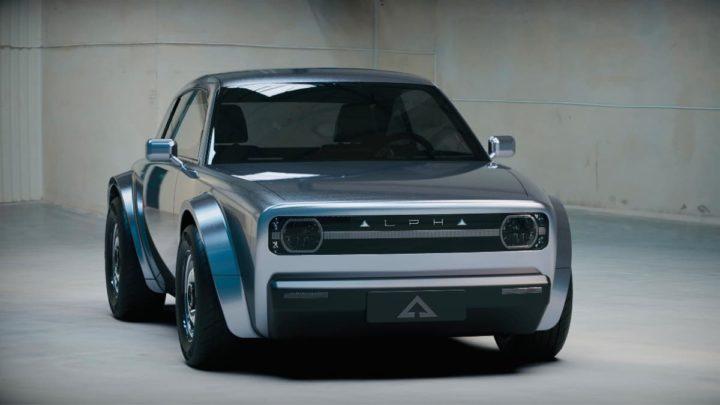 Imagem carro elétrico Alpha coupé