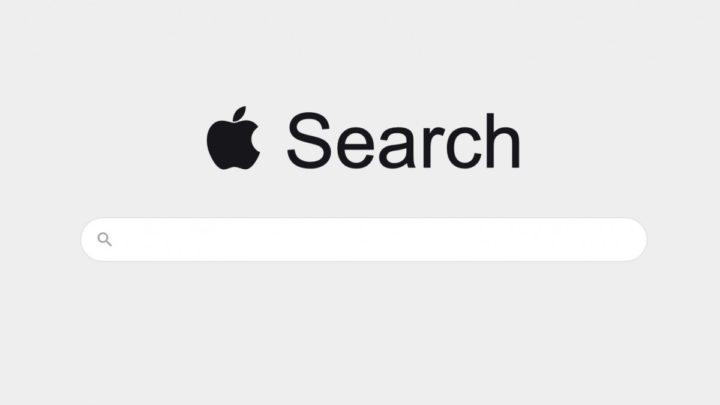 Ilustração do motor de pesquisa Apple Search