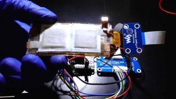 Imagem investigação de uma bateria de zinco