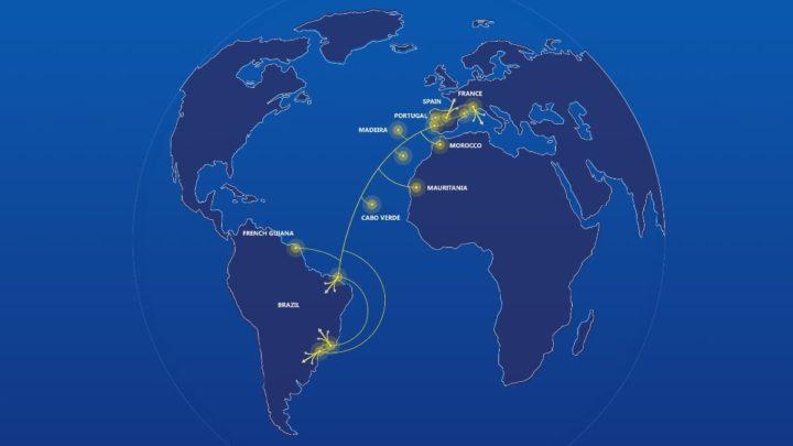 Imagem do trajeto do cabo submarino