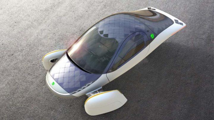 carro elétrico futurista da Aptera Motors.