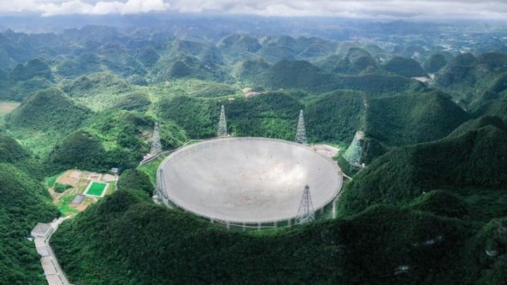 Maior radiotelescópio do mundo, na China.