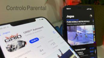 Ilustração Controlo Parental nos jogos do iOS