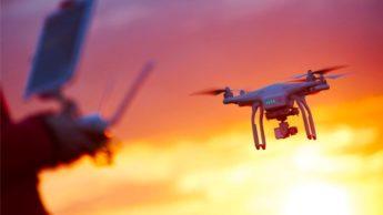 Imagem drone com matrícula digital