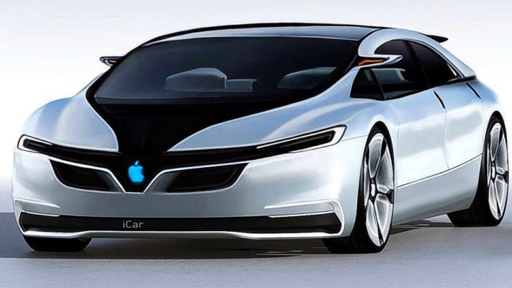 Ilustração do carro elétrico Apple