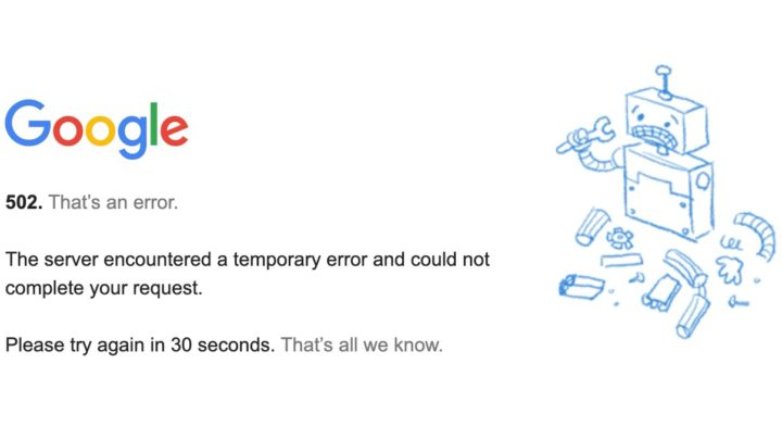 Sim, não está sozinho: YouTube, Gmail e outros serviços Google não funcionam