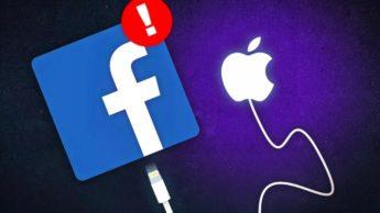 Ilustração da batalha que o facebook trava contra a Apple